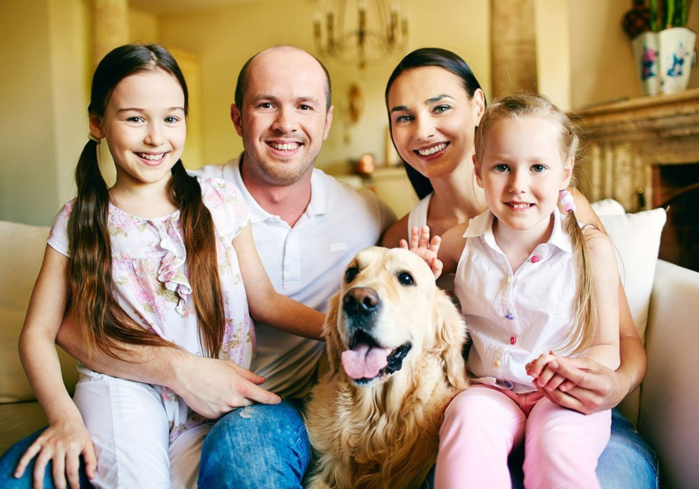 Family enjoying their mold-free home